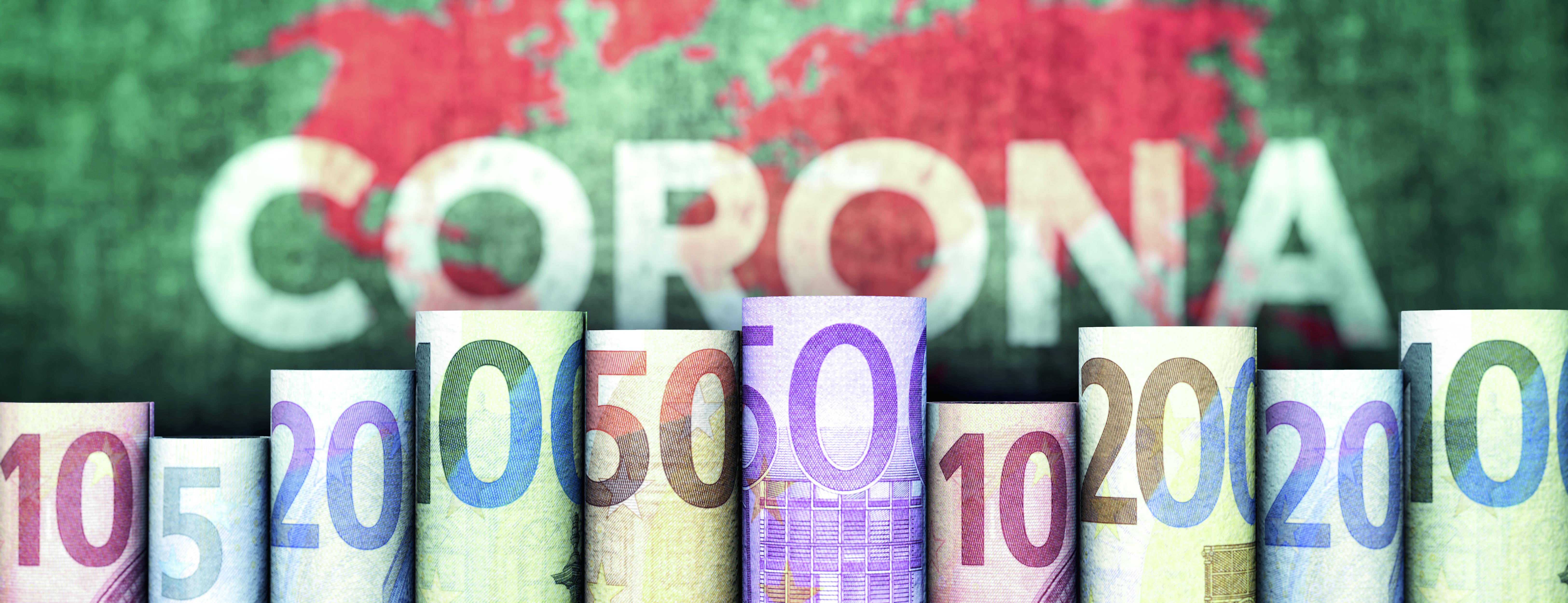 Euroscheine Corona - Autor bluedesign - Quelle Adobe Stock 329560865