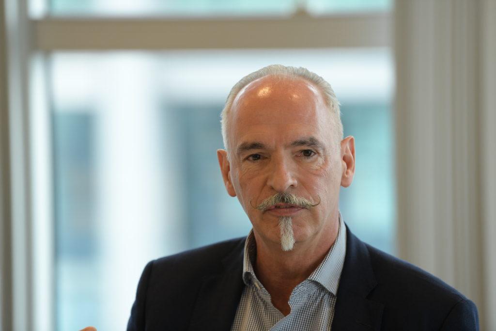 Stuckateurmeister Klaus-Dieter Müller, Präsident der Fachgemeinschaft Bau